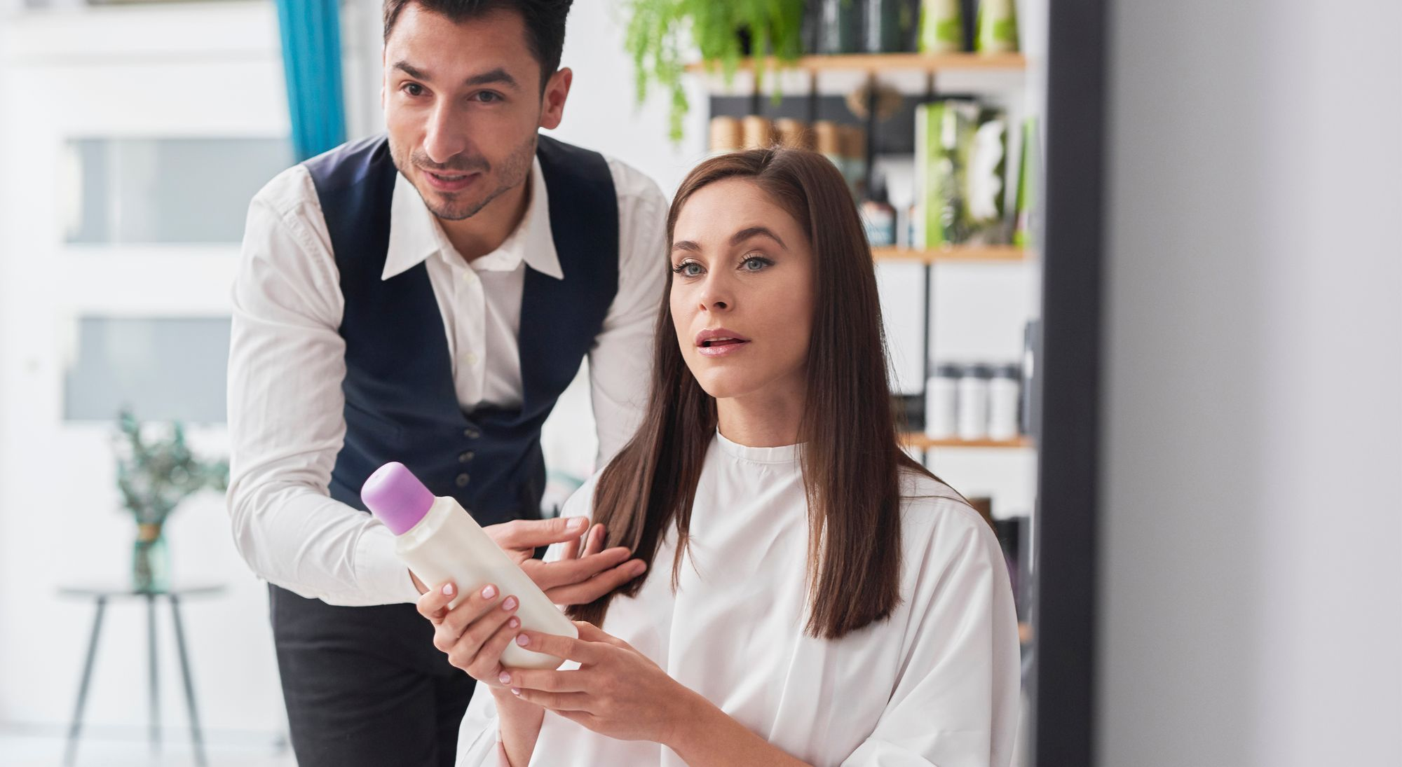 Hair stylist Creating a Connection with Client